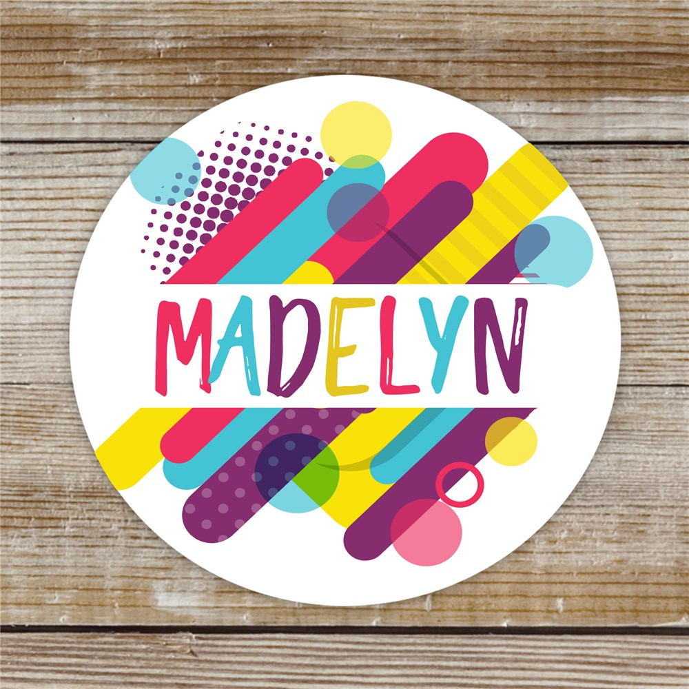 Personalized Colorful Retro Stickers | Personalized Stickers With Your Name