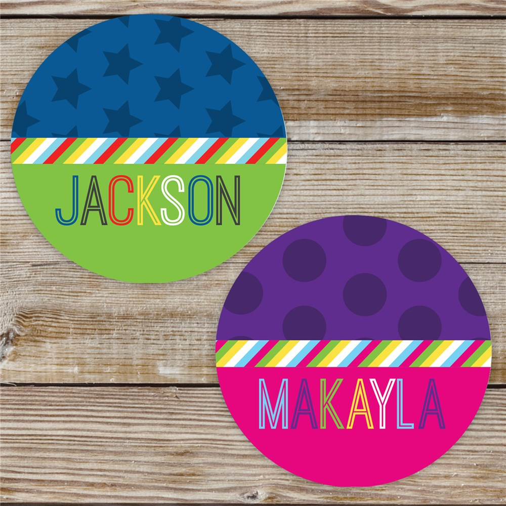 Personalized Stripe Stickers | Personalized Stickers