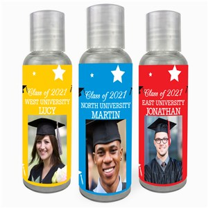 Personalized Stars & Caps Hand Sanitizer 11663922