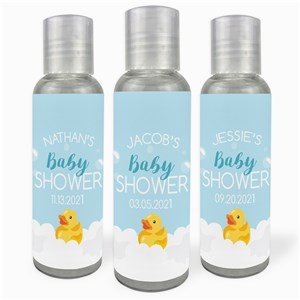 Personalized Baby Shower Rubber Duck Hand Sanitizer