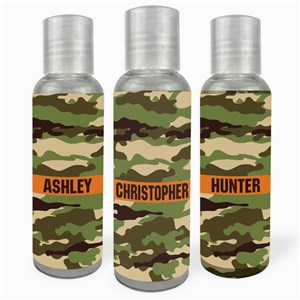 Personalized Camo Hand Sanitizer