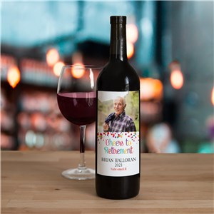 Personalized Cheers to Retirement Wine Bottle Labels