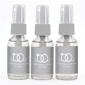 Personalized Wedding Rings Hand Sanitizer Spray Bottle