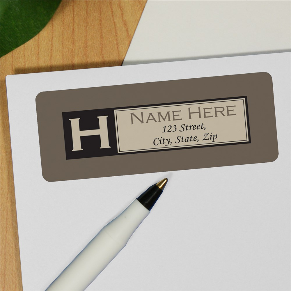 Personalized Initial Address Labels 172820X
