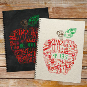Personalized Teacher's Apple Notebook Set of 2 1807421-S2