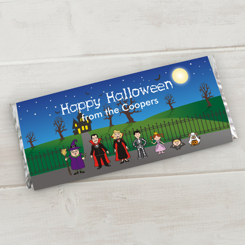 Personalized Halloween Characters Candy Bar Wrappers 1966515X