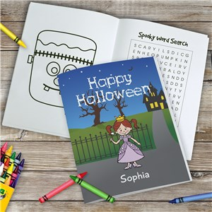 Personalized Halloween Characters Coloring Book 1966516