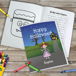 Personalized Halloween Characters Coloring Book