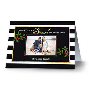 Holiday Blessings  Photo Christmas Cards | Personalized Christmas Cards