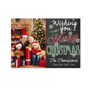 Chalkboard Wishes  Photo Holiday Cards | Personalized Christmas Cards