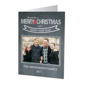 Wishing You A Merry Christmas Photo Cards | Personalized Christmas Cards