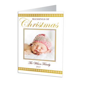 Blessings of Christmas Photo Holiday Cards | Personalized Holiday Cards