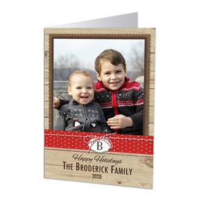 Personalized Burlap Photo Holiday Cards | Personalized Christmas Cards