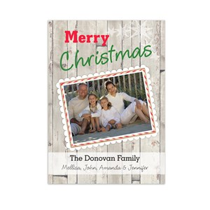 Rustic Christmas Photo Greeting Cards | Personalized Holiday Cards