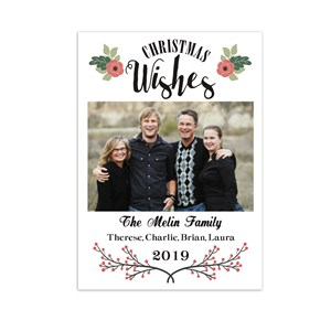 Christmas Wishes Photo Holiday Cards | Personalized Christmas Cards