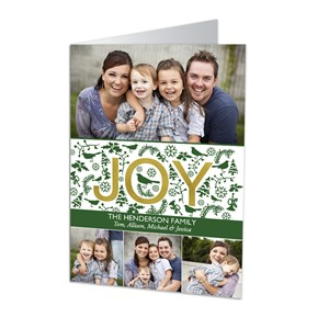 Joyful Wishes Photo Christmas Cards | Personalized Christmas Cards