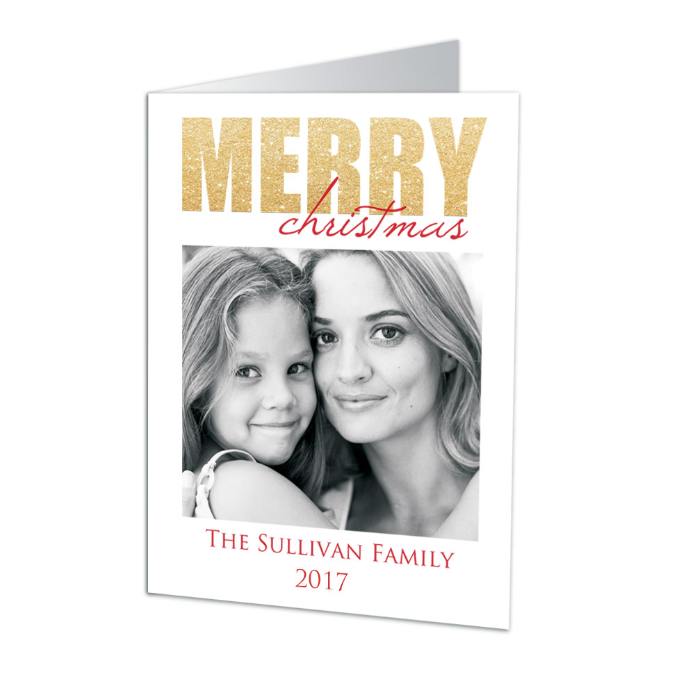 Holiday Shimmer Photo Christmas Cards | Personalized Holiday Cards