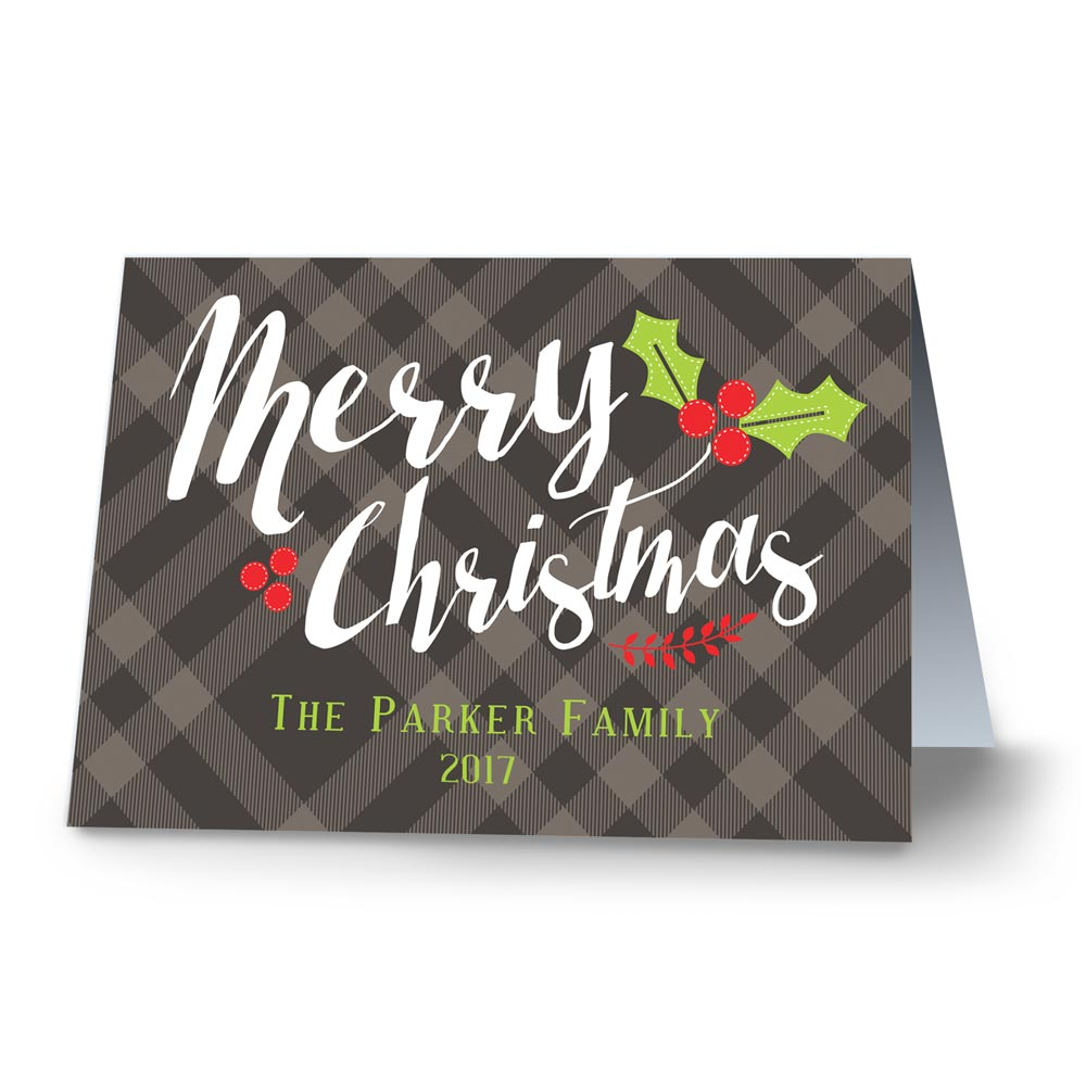 Classic Plaid Personalized Christmas Cards | Personalized Holiday Cards