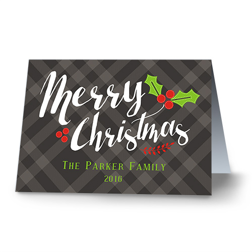 Classic Plaid Personalized Christmas Cards 1974310