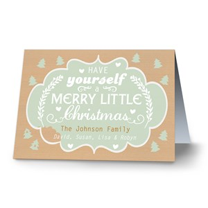 Very Merry Personalized Christmas Cards | Personalized Christmas Cards