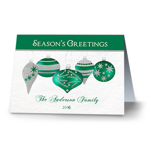 Shimmering Ornaments Personalized Holiday Cards 1974610
