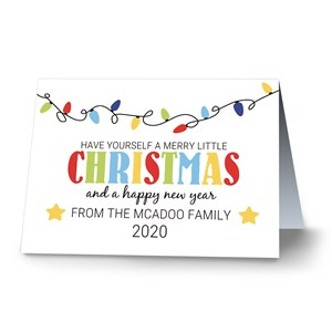 Merry Little Christmas Personalized Greeting Cards | Personalized Holiday Cards