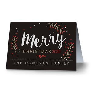 Merry Berry Personalized Holiday Cards | Personalized Holiday Cards