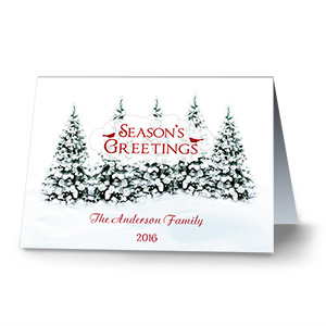 Winter Wonderland Personalized Holiday Cards 1975010