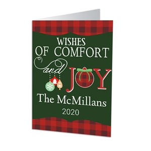 Holiday Wishes Personalized Christmas Cards | Personalized Holiday Cards