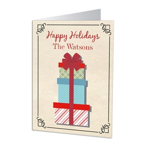 Holiday Presents Personalized Christmas Cards | Personalized Christmas Cards