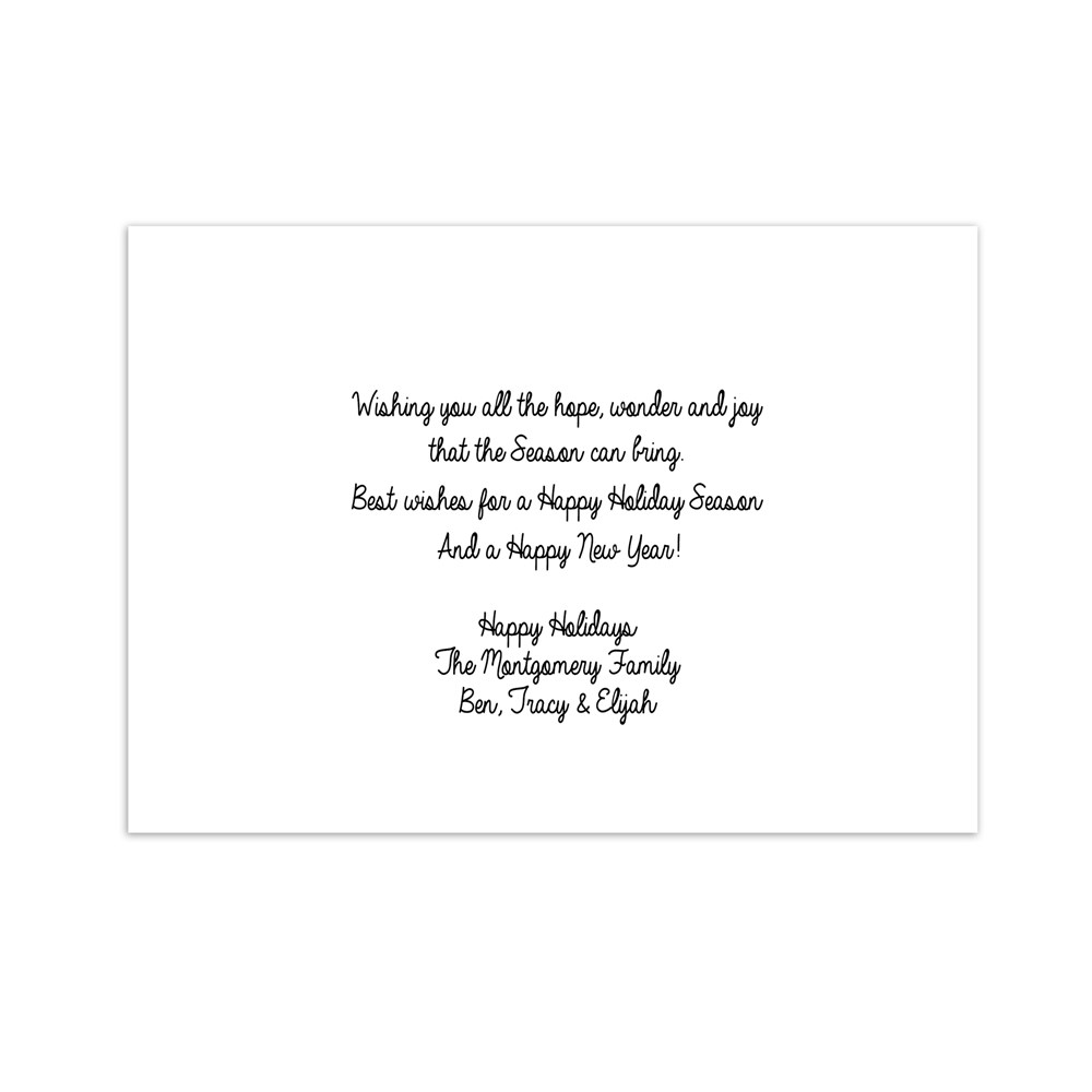 Let It Snow Personalized Holiday Cards | Personalized Holiday Cards