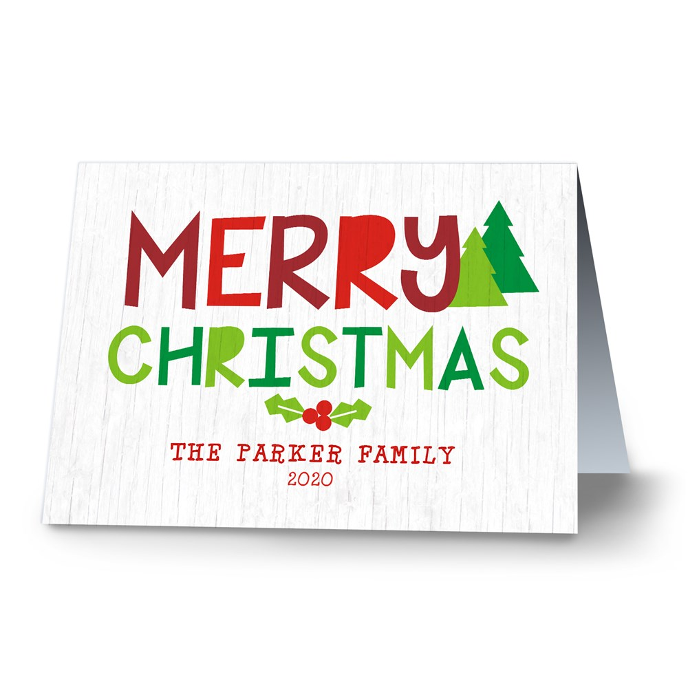 Oh What Fun Personalized Merry Christmas Cards | Personalized Holiday Cards