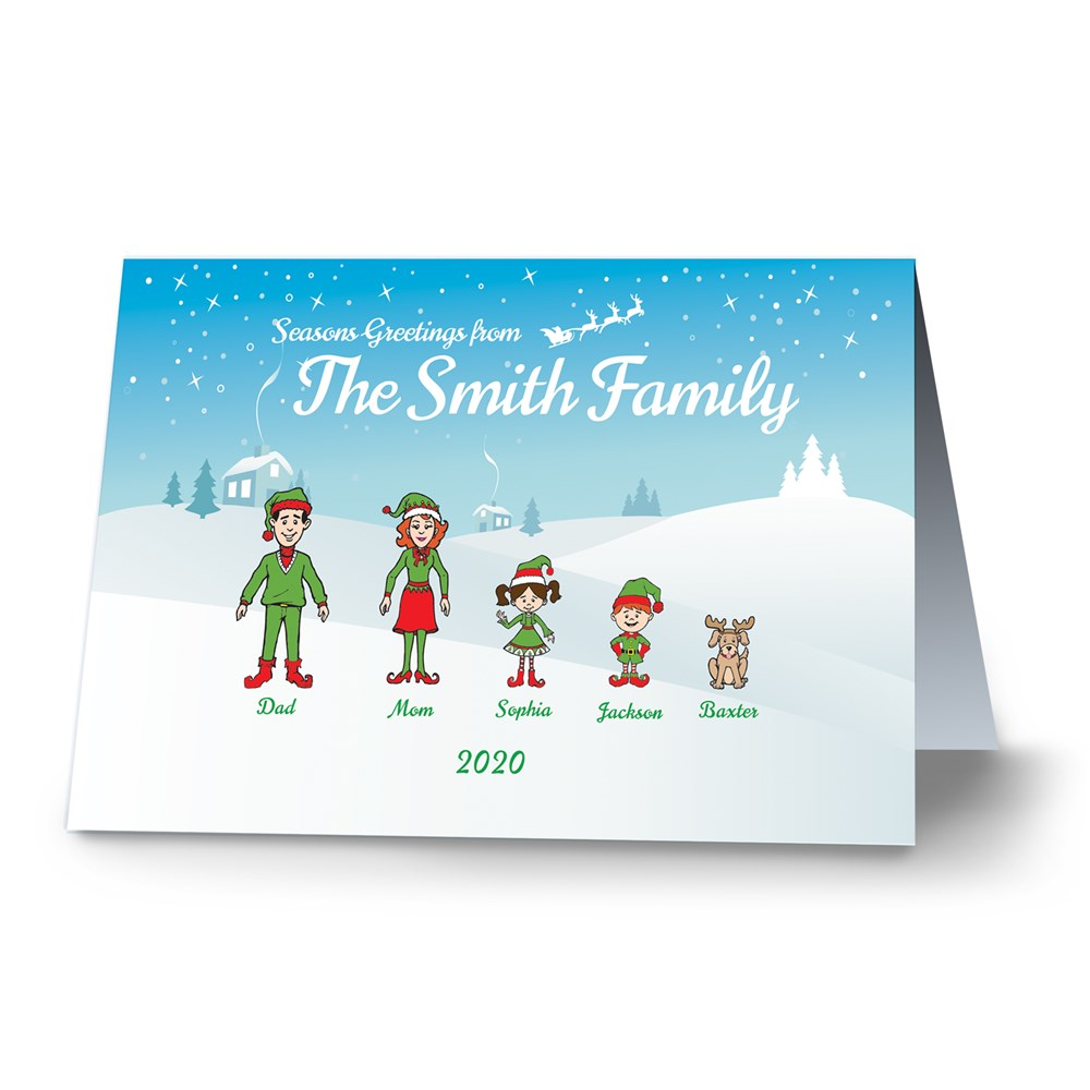 Holiday Character Personalized Christmas Cards-Folded | Personalized Christmas Cards