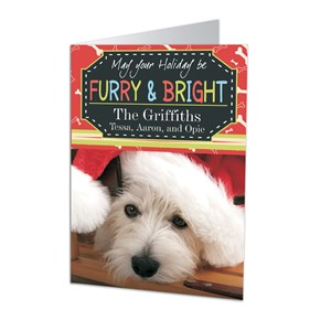 Furry and Bright Personalized Holiday Cards | Personalized Christmas Cards