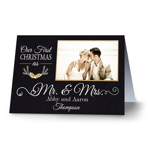 Our First Christmas as Mr. and Mrs. Holiday Cards | Personalized Christmas Cards