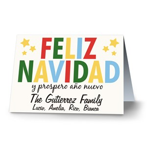 Feliz Navidad Personalized Christmas Cards | Personalized Holiday Cards