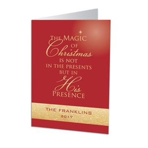 Magic of Christmas Personalized Holiday Card | Personalized Holiday Cards