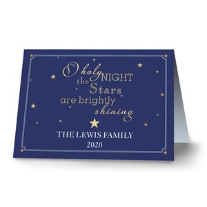 O Holy Night Personalized Christmas Card | Personalized Holiday Cards