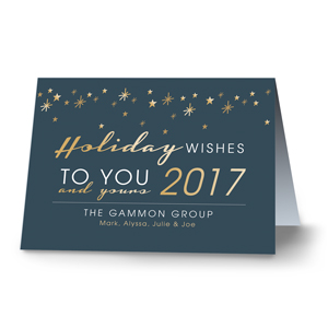 Wishes To You Personalized Holiday Cards - Folded | Personalized Holiday Cards