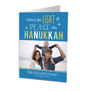 Peaceful Hanukkah Photo Greeting Cards-Folded 1981010