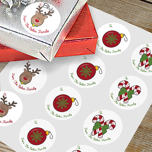 Personalized Happy Holidays Gift Stickers 198341