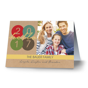 Happy New Year Personalized Greeting Cards | Personalized Holiday Cards