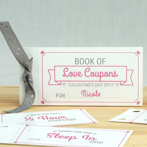 Personalized Love Coupon Book for Her | Personalized Valentines Day Gifts For Her