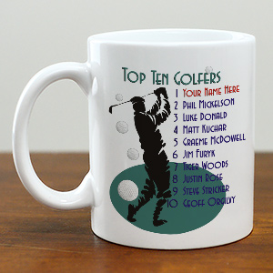 Top Ten Golfers Ceramic Coffee Mug