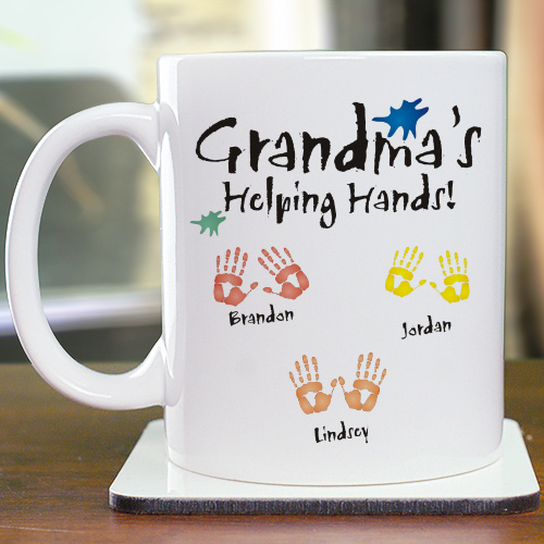 Helping Hands Personalized Ceramic Coffee Mug | Personalized Coffee Mugs