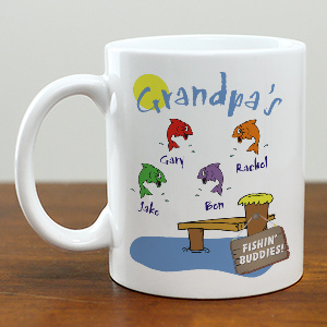 Fishing Buddies Personalized Coffee Mug | Customizable Coffee Mugs