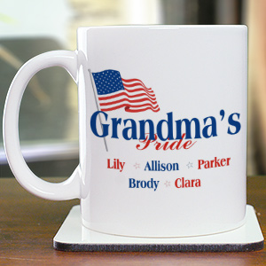 USA American Pride Ceramic Personalized Coffee Mug