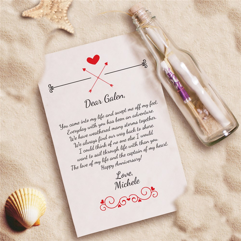 Personalized Endless Love Message in a Bottle | Valentine's Day Personalized Gifts For Her