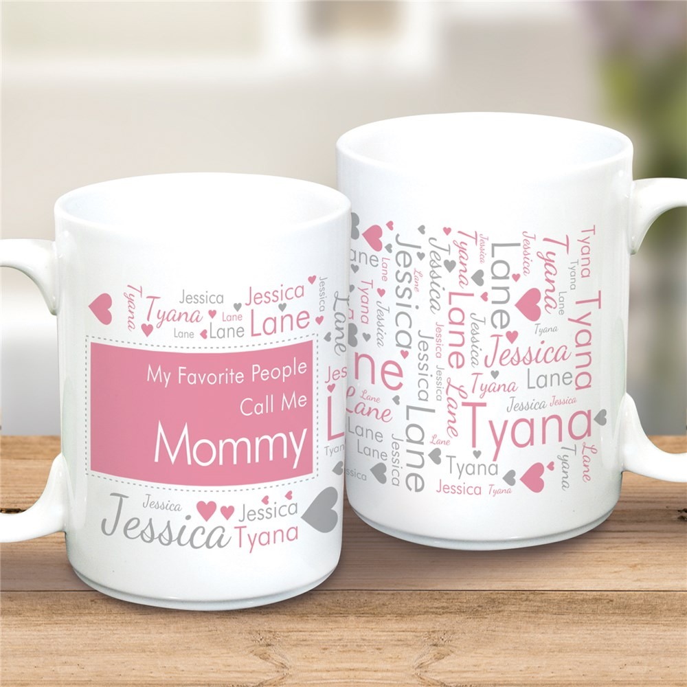 Word-Art Mom Ceramic Mug | Personalized Mom Mug