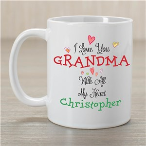 Personalized With All Our Hearts Mug | Personalized Gifts For Grandma